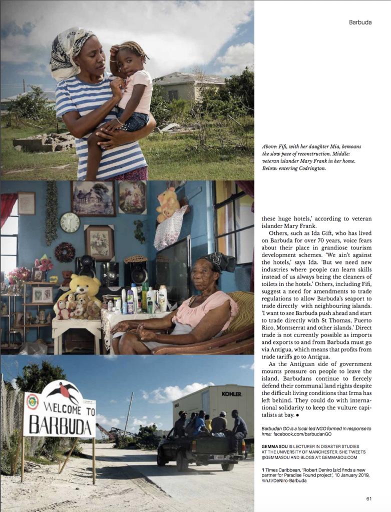 New Internationalist 2020 Barbuda Resists Disaster Capitalists